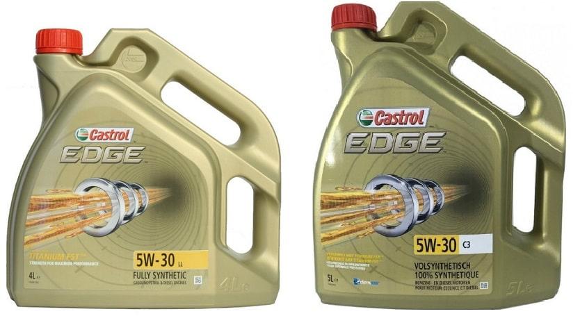 Сравнение Castrol EDGE 5W-30 LL и Castrol EDGE 5W-30 C3